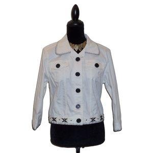 NWOT Ruby Rd. Embellished Denim jacket